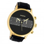 Oozoo Herren Armbanduhr Timepieces C10516 Analog Leder schwarz UOC10516