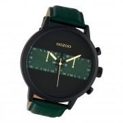 Oozoo Herren Armbanduhr Timepieces C10517 Analog Leder grün UOC10517
