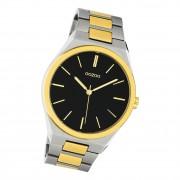 Oozoo Herren Damen Armbanduhr Timepieces C10522 Edelstahl silber gold UOC10522