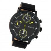 Oozoo Herren Armbanduhr Timepieces C10534 Analog Leder schwarz UOC10534