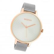 Oozoo Damen Armbanduhr Timepieces C10551 Analog Edelstahl silber UOC10551