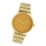 Oozoo Damen Armbanduhr Timepieces C10557 Analog Edelstahl gold UOC10557