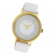 Oozoo Damen Armbanduhr Timepieces C10576 Analog Leder weiß UOC10576