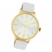 Oozoo Damen Armbanduhr Timepieces C10611 Analog Leder weiß UOC10611