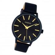 Oozoo Damen Armbanduhr Timepieces C10619 Analog Leder dunkelblau UOC10619