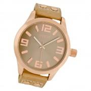 Oozoo Damen Armbanduhr Timepieces C1151 46mm Quarz Leder sand UOC1151