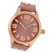 Oozoo Damen Armbanduhr Timepieces C1152 46mm Quarz Leder altrosa UOC1152