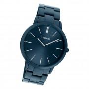 Oozoo Damen Armbanduhr Ultra Slim C20102 Analog Edelstahl dunkelblau UOC20102