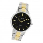 Oozoo Damen Armbanduhr Ultra Slim C20107 Analog Edelstahl silber gold UOC20107