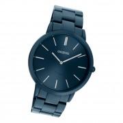 Oozoo Damen Armbanduhr Ultra Slim C20108 Analog Edelstahl blau UOC20108