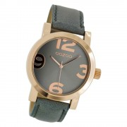 Oozoo Damen-Uhr Timepieces Quarzuhr C6807 Leder-Armband grau UOC6807