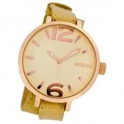 Oozoo Damen-Armbanduhr Mineralglas Quarz Leder beige UOC6835