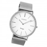 Oozoo Damen Armbanduhr Ultra Slim C8890 Quarz Edelstahl silber UOC8890