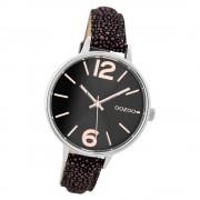 Oozoo Damen Armbanduhr Timepieces C9484 38mm Leder lila schwarz UOC9484