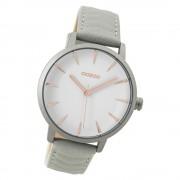 Oozoo Damen Armbanduhr grau Timepieces Quarz C9506 Lederarmband grau UOC9506