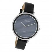 Oozoo Damen Armbanduhr Ultra Slim C9853 Analog Leder schwarz UOC9853
