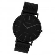 Oozoo Herren Armbanduhr Ultra Slim C9933 Quarz Stahl schwarz UOC9933