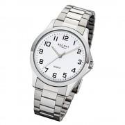 Regent Herren Armbanduhr Analog 1152412 Quarz-Uhr Metall silber UR1152412