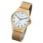 Regent Herren Armbanduhr Analog 1243486 Quarz-Uhr Metall gold UR1243486