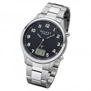 Regent Herren Armbanduhr Analog-Digital BA-445 Funk-Uhr Metall silber URBA445