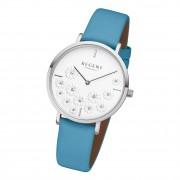 Regent Damen Armbanduhr Analog BA-592 Quarz-Uhr Leder türkis URBA592
