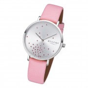 Regent Damen Armbanduhr Analog BA-597 Quarz-Uhr Leder rosa URBA597