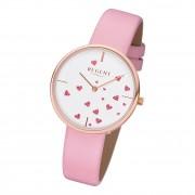 Regent Damen Armbanduhr Analog BA-608 Quarz-Uhr Leder rosa URBA608