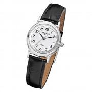 Regent Damen-Armbanduhr F-013 Quarz-Uhr Leder-Armband schwarz URF013