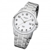 Regent Herren-Armbanduhr 32-F-1009 Quarz-Uhr Edelstahl-Armband silber URF1009