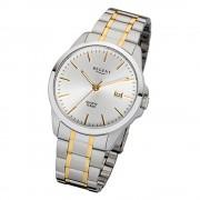 Regent Herren-Armbanduhr 32-F-1013 Edelstahl-Armband silber gold URF1013