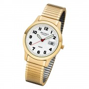 Regent Herren-Armbanduhr 32-F-1017 Quarz-Uhr Edelstahl-Armband gold URF1017