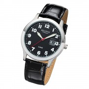 Regent Herren-Armbanduhr 32-F-1023 Quarz-Uhr Leder-Armband schwarz URF1023