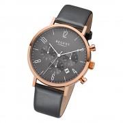Regent Herren-Armbanduhr F-1038 Leder-Armband grau URF1038