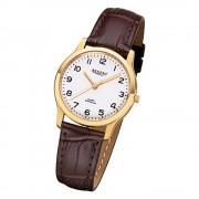 Regent Damen-Armbanduhr 32-F-1075 Quarz-Uhr Leder-Armband braun URF1075
