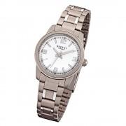 Regent Damen-Armbanduhr 32-F-1084 Quarz-Uhr Titan-Armband grau URF1084
