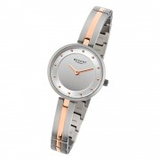 Regent Damen-Armbanduhr F-1101 Quarz-Uhr Titan-Armband silber rosegold URF1101