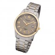 Regent Herren-Armbanduhr 32-F-1107 Quarz-Uhr Titan-Armband silber grau gold URF1 URF1107