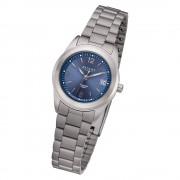 Regent Damen Armbanduhr Analog F-1168 Quarz-Uhr Metall silber URF1168