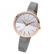 Regent Damen Armbanduhr Analog F-1170 Quarz-Uhr Metall silber URF1170