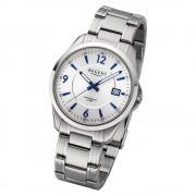 Regent Herren Armbanduhr Analog F-1185 Quarz-Uhr Metall silber URF1185