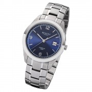 Regent Herren Armbanduhr Analog F-1193 Quarz-Uhr Metall silber URF1193