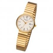 Regent Damen Armbanduhr Analog F-1203 Quarz-Uhr Metall gold URF1203