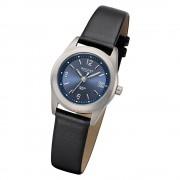 Regent Damen Armbanduhr Analog F-1214 Quarz-Uhr Leder schwarz URF1214