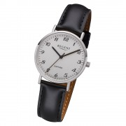 Regent Damen Armbanduhr Analog F-1217 Quarz-Uhr Leder schwarz URF1217