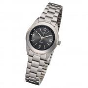 Regent Damen Armbanduhr Analog F-257 Quarz-Uhr Metall silber URF257