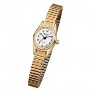 Regent Damen-Armbanduhr F-263 Quarz-Uhr Mini Stahl-Armband gold URF263