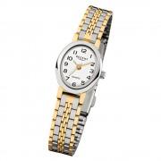 Regent Damen-Armbanduhr F-393 Quarz-Uhr Mini Stahl-Armband silber gold URF393
