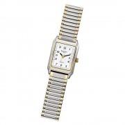 Regent Damen Armbanduhr Analog F-460 Quarz-Uhr Metall silber gold URF460