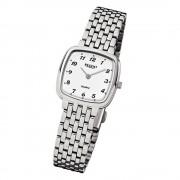 Regent Damen-Armbanduhr F-520 Quarz-Uhr Stahl-Armband silber URF520