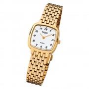 Regent Damen-Armbanduhr F-521 Quarz-Uhr Stahl-Armband gold URF521